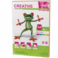 Бумага CREATIVE color (Креатив), А4, 80 г/м2, 50 л. (5 цв.х10 л.), цветная неон
