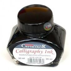 Чернила жидкие для каллиграфии Cretacolor, банка 30мл, черный