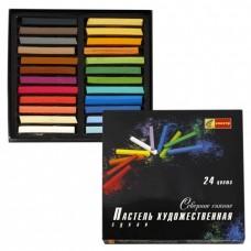 """Пастель сухая художественная СПЕКТР """"Северное сияние"""", 24 цвета, квадратное сечение"""