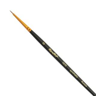 Кисть художественная ROUBLOFF (Рублев), синтетика, под колонок, круглая, № 0, короткая ручка