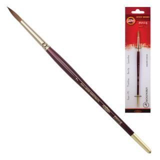 Кисть художественная KOH-I-NOOR колонок, круглая, №7, короткая ручка
