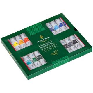 Краски акриловые Greenwich Line, профессиональная серия, 24 цвета, 12мл