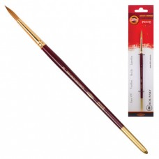 Кисть художественная KOH-I-NOOR колонок, круглая, №8, короткая ручка