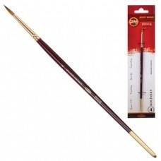 Кисть художественная KOH-I-NOOR колонок, круглая, №4, короткая ручка