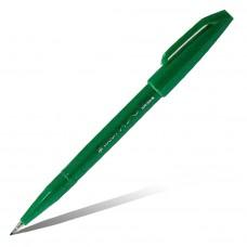"""Фломастер-кисть Pentel """"Brush Sign Pen"""", зелёный"""
