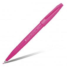 """Фломастер-кисть Pentel """"Brush Sign Pen"""", розовый"""