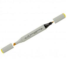 """Маркер для творчества двухсторонний Vista-Artista """"Style"""" цвет J114 ярко-желтый, пулевидный/скошенный, 0,7мм/1-7мм"""