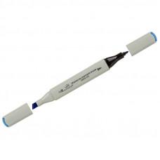 "Маркер для творчества двухсторонний Vista-Artista ""Style"" цвет G335 синий пулевидный/скошенный, 0,7мм/1-7мм"