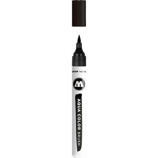 Акварельный маркер Molotow AQUA COLOR BRUSH (чёрный)