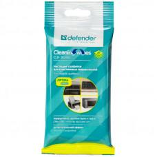 Салфетки чистящие влажные Defender, для поверхностей, в мягкой упаковке, 20шт.