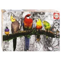 Пазл Educa 500 деталей: Птицы в джунглях