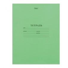 Тетрадь 12л. Зеленая обложка, узкая линия