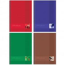 "Тетрадь 120л., А5, клетка на гребне ArtSpace ""Моноколор. Office book"", глянц. лам., тверд. обложка"