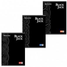 """Тетрадь 96 л., А4, BRAUBERG, клетка, выборочный лак, """"Black Jack"""", 3 вида"""