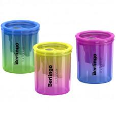 """Точилка пластиковая Berlingo """"Radiance"""", с контейнером, 2 отверстия, ассорти"""