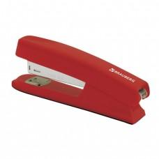 """Степлер BRAUBERG """"Option"""", №24/6, до 25 листов, пластиковый корпус, металлический механизм, красный"""