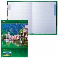 """Блокнот 7БЦ, А4, 120 л., обложка ламинированная, 5-цветный блок, HATBER, """"Яркие краски Европы"""""""