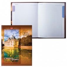 """Блокнот 7БЦ, А5, 80 л., обложка ламинированная, 5-цветный блок, HATBER, """"Замки Франции"""""""