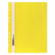 Скоросшиватель пластиковый с перфорацией BRAUBERG, А4, желтый