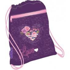 Мешок-рюкзак для обуви Belmil ROSE с вентилируемой сеткой и объемным карманом на молнии. Размеры 35х43 см