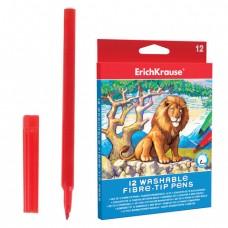 Фломастеры ERICH KRAUSE, 12 цветов, суперсмываемые