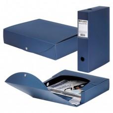 "Короб архивный BRAUBERG ""Energy"", пластик, 7 см (на 600 л.), разборный, синий"