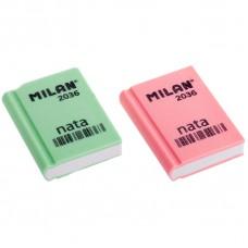 "Ластик Milan ""Nata 2036"", прямоугольный, пластик, 39*29*9мм"