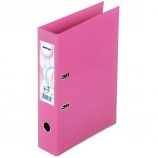 """Папка-регистратор Berlingo """"Spring"""", 70мм, бумвинил, двухстор., с карманом, ниж. мет. кант, розовая"""