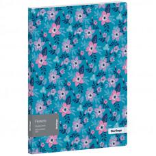 """Папка с 20 вкладышами Berlingo """"Flowers"""", 17мм, 600мкм, с внутр. карманом, с рисунком"""