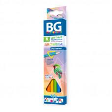 "Карандаши цветные BG ""Infly"", 06цв., трехгран., пластиковые, 2.7мм"