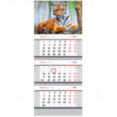 "Календарь квартальный 3 бл. на 3 гр. OfficeSpace ""Символ года"", 2022г."