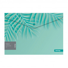 "Папка-конверт на кнопке Berlingo ""Nature"" A4, 180мкм, с рисунком"