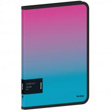 """Папка на молнии Berlingo """"Radiance"""" А4, 600мкм, розовый/голубой градиент, с рисунком"""