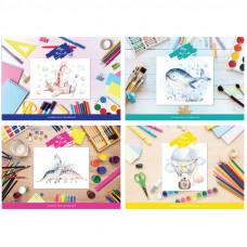 """Альбом для рисования 40л., А4, на склейке BG """"Детские рисунки"""", 120г/м2"""