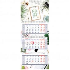 "Календарь квартальный 3 бл. на 3 гр. OfficeSpace Premium ""Motivation"", 2022г."