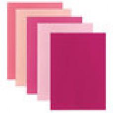 Цветной фетр для творчества, А4, ОСТРОВ СОКРОВИЩ, 5 листов, 5 цветов, толщина 2 мм, оттенки розового
