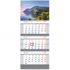 """Календарь квартальный 3 бл. на 3 гр. OfficeSpace Standard """"Родные просторы"""", 2022г."""