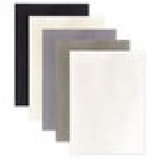 Цветной фетр для творчества А4, ОСТРОВ СОКРОВИЩ, 5 листов, 5 цветов, толщина 2 мм, оттенки серого