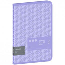 """Папка на молнии Berlingo """"Starlight S"""" А4, 600мкм, фиолетовая, с рисунком"""