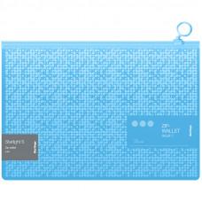 """Папка-конверт на молнии Berlingo """"Starlight S"""", 200мкм, голубая, с рисунком"""