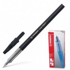 """Ручка шариковая STABILO """"Liner"""", корпус черный, узел 0,7 мм, линия 0,3 мм, черная"""