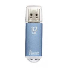 Флэш-диск 32 GB, SMARTBUY V-Cut, USB 2.0, металлический корпус, синий