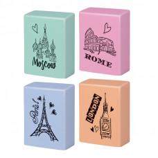 """Ластик Berlingo """"Capitals"""", прямоугольный, термопластичная резина, цвета ассорти, 23*19*9мм"""