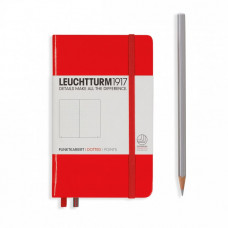 Книга для записей POCKET  А6 красный 185 стр., точка , Leuchtturm1917
