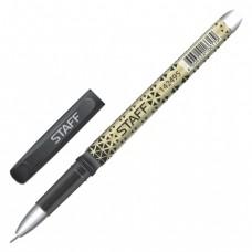 Ручка стираемая гелевая STAFF, хромированные детали, узел 0,5 мм, линия 0,35 мм, черная