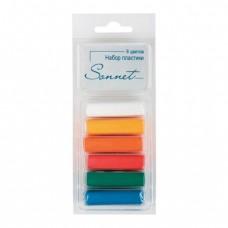 """Пластика """"Сонет"""" (пластилин отверждающийся), 6 основных цветов, 120 гр."""