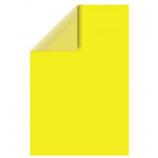 Цветной картон, А4, двусторонний, тонированный, 220 г/м2,  1 лист, желтый интенсивный, BRAUBERG