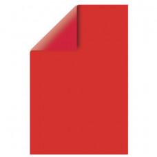 Цветной картон, А4, двусторонний, тонированный, 220 г/м2, 1 лист, красный интенсивный, BRAUBERG