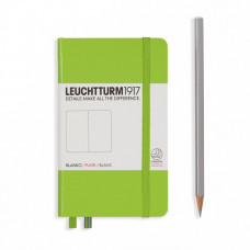 Книга для записей POCKET  А6 лайм 185 стр., нелинованный, Leuchtturm1917