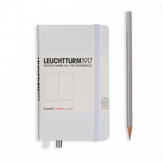Книга для записей POCKET  А6 белый 185 стр., нелинованный, Leuchtturm1917